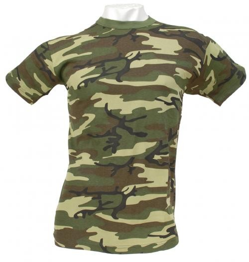 US T-Shirt, halbarm, woodland