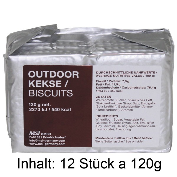 Outdoor Kekse Grosspackung 12x120g